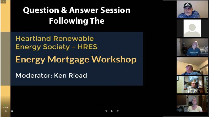 Q and A session after HRES Virtual Energy Mortgage Workshop Image